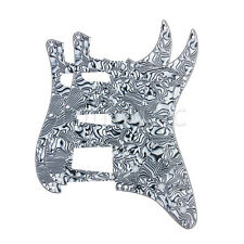 2* Guitar Pickguard for Fender Strat Replacement Black and White Shell 3Ply HSS