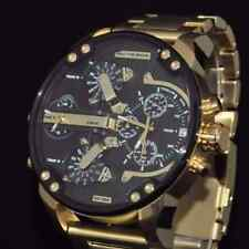 NEW DIESEL DZ7333 MR DADDY 2.0 GOLD MULTIPLE TIME STAINLESS STEEL MEN'S WATCH UK