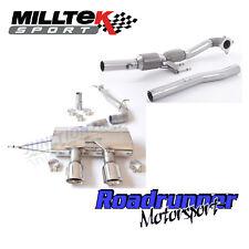 """MILLTEK GOLF R MK6 Turbo posteriore di scarico 3"""" RACE NO valvola e Razza Gatto non RES polacco"""