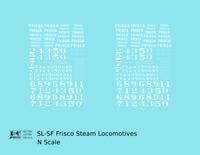K4 N Decals SLSF Frisco Steam Locomotive White