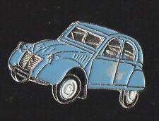 Pin's voiture citroen 2 CV chevaux (bleue / Qualité zamac)