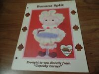 1985 Cupcake Corner Banana Split Crochet Doll Pattern #2505