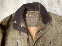 Men's Barbour Jacket Waxed Waterproof Size S M