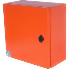 X15 Orange Powder Coated Mild Steel Enclosure 300Hx200Wx150D