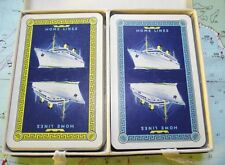 Twin Box c1950 Home Shipping Line Playing Cards : Good