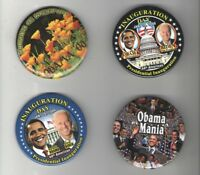 4 OBAMA  + BIDEN 3 in PIN from 2008  2009 CAMPAIGN Election pinback INAUGURATION