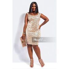 Monif C. Sequin Mini Plus Size Cocktail Dress, Size 1X
