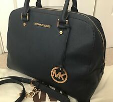 Michael Kors Large Satchel, Navy Saffiano Leather, GREAT CONDITION