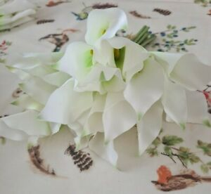24 White Calla Lilly Bundle Artificial Silks Flowers