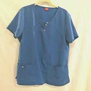 Dickies Womens Scrubs Top Medium Bright Blue