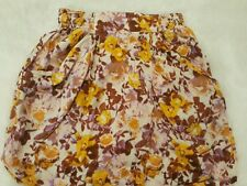 H&M- Floral HIGH WAIST MINI SKIRT - SIZE 4