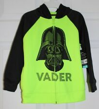 BOYS SZ 5 DARTH VADER THEMED HOODED ZIP FRONT SWEATSHIRT by DISNEY-NWT'S