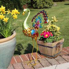 Peacock Animal Figure Solar Powered 8 LED Novelty Outdoor Garden Ornament Light