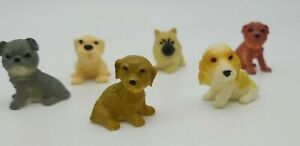 Vintage. dog. Gumball Prize Charm Toy. Set of 7. Beautiful breeds. 1 owner. Tiny