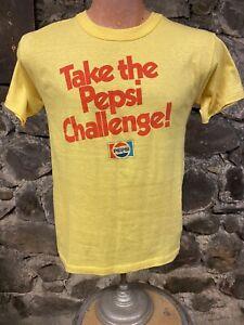 Vintage Single Stitch Pepsi Challenge tee shirt 80s