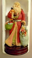 Musical Santa with Wooden Base - Made for J.C. Penny-  12""