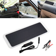 12V 5W Portable Solar Panel Power Battery Charger Backup For Car Boat Motorcycle