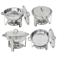 4 PACK CATERING STAINLESS STEEL CHAFER CHAFING DISH SETS 5 QT PARTY PACK