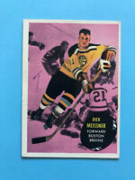 1961-62 DICK MEISSNER TOPPS ROOKIE Hockey Card #6 WRITING ON BACK - BRUINS