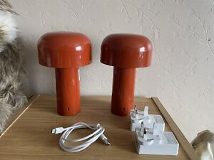 Flos Bellhop LED Touch Table Lamp Brick Red X 2 - Not Working Refurb Project