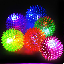 6 PCS Light-Up Spikey Dog / Cat Balls LED Flashing Spiky Bumpy Sensory Fun Toy