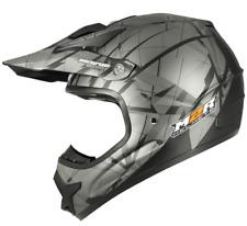 NEW M2R X2.6 Motocross Helmet Lg TRI-COMPOSITE! rrp$299 matt silver MX enduro