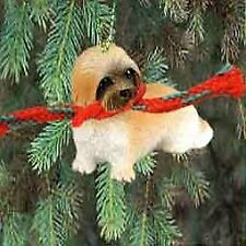 Lhasa Apso Puppy Cut Miniature Dog Ornament - Brown