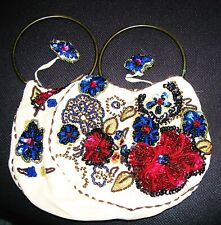 ANTIQUE SILK EMBROIDERED WITH SEQUIN EVENING BAG 1920s