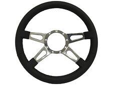 Volante S9 Series Steering Wheel, Premium Leather 9 Bolt - Four Spoke w/ Slots