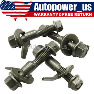 Adjustable Camber Correction Alignment Kit 12mm for Front Wheels Cam Bolts 4Kits