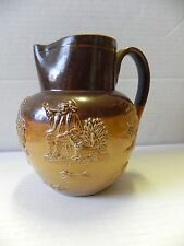 Doulton Lambeth Stoneware Salt Glazed Hunting Scene Small Jug/Pitcher