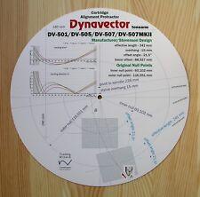 Dynavector DV-501/505/507/507MKII Custom Designed Tonearm Alignment Protractor