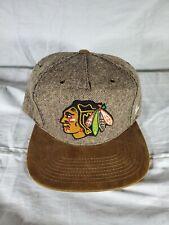 Zephyr NHL Chicago Blackhawks Tweed Wool Brown SnapBack Hat