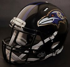 BALTIMORE RAVENS NFL Authentic GAMEDAY Football Helmet w/ S2BD-SP Facemask