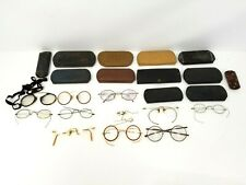 Lot of Vintage Antique Glasses and Cases Parts or For Repair