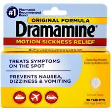 New Dramamine Motion Sickness Relief Tablets 36 Ct.