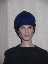 Tonner Male Doll Micro Knitted Blue Beanie Hat Matt/ Sean/ Damon/Jeremy/Stefan