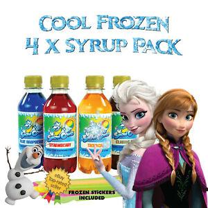 FROZEN snow cone Slush Puppy machine syrup 4 x 250ml pick and mix syrups