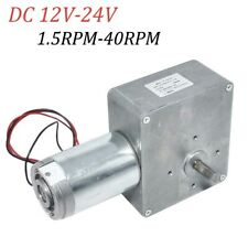 Dc 12v 24v 15 40rpm High Torque Turbo Worm Electric Geared Motor Low Speed