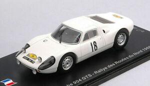 1/43 Spark Porsche 904 GTS N°18 Rallye Des Routes Du Nord 1966 Livraison Domicil