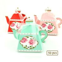 50pcs Teapot Sweet Married Wedding Favor Box Gift Boxes Candy Paper Party Box