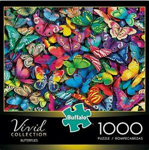 Buffalo Vivid Collection Butterflies 1000 Piece Jigsaw Puzzle