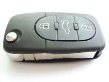 Reemplazo de 3 botones Flip Llavero Funda Kit Para Audi A3 A4 A6 A8 Tt remoto clave