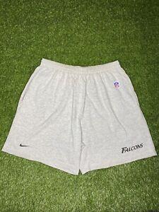 Vintage Nike NFL Knit Shorts Size XL Atlanta Falcons Made In USA Gray