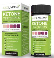 Ketone Test Strips by NKD Living (125 Test Strips) *Accurately Measure Ketones*
