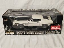 Sun Star 1971 Ford Mustang Mach I 118 White And Black 351 Ram Air