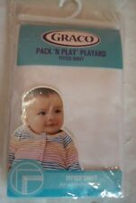 GRACO Pack 'n Play Playard Fitted Sheet, NEW, white, 39x27 inches