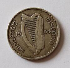 1934 IRISH Silver Half-Crown