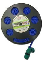 7.5m FLAT Non Toxic HOSE on REEL for Caravan Motorhome Garden – made in Britain