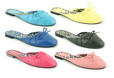 Femmes à Enfiler Cuissard Noeud Mules Chaussures Sandales Plage Tongs Taille